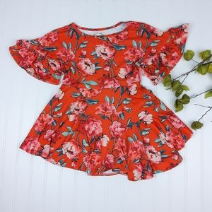 Joyfolie Mia Joy Ava Floral Printed Dress Orange 4